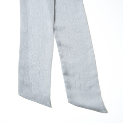 GREY SHEER SCARF-STYLE BOW