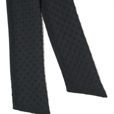 SHEER BLACK DOTS SCARF-STYLE BOW