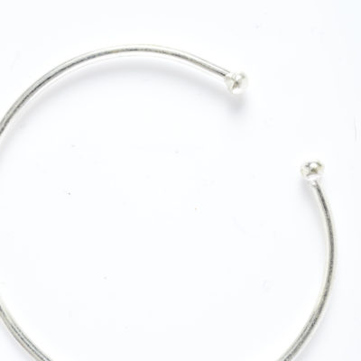 DIDI SILVER BALL WIRE BRACELET (Alone)