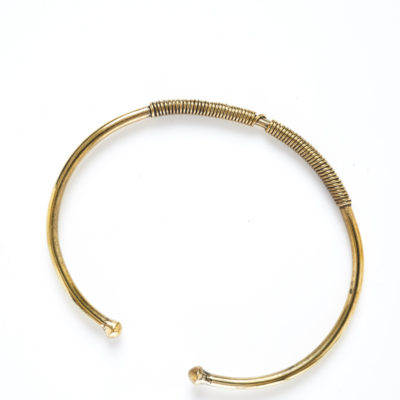 DIDI T BRONZE TWISTED BALL WIRE BRACELET (Alone)