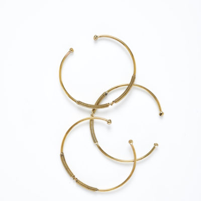 DIDI T BRONZE TWISTED BALL WIRE BRACELETS