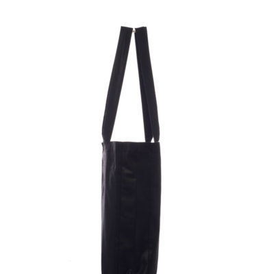 ALLDAY SHINY BLACK TOTE BAG