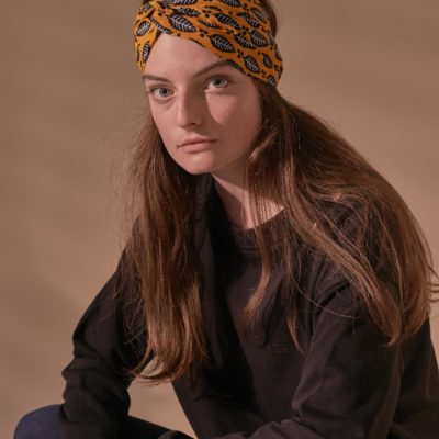 YELLOW WAX PRINT MATA TURBAN