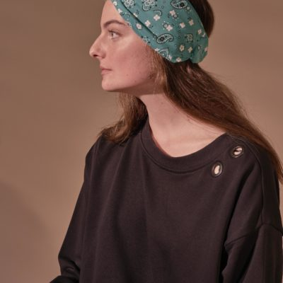 GREEN BANDANA MATA TURBAN
