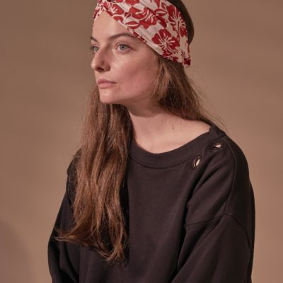 RED HIBISCUS MATA TURBAN