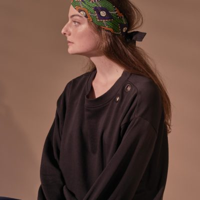 GREEN WAX PRINT HARI TURBAN