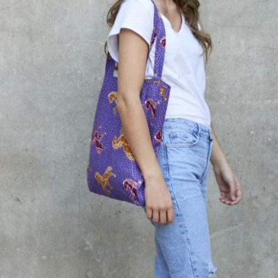ALLDAY TOTE BAG JUMPING COLLECTION IN PURPLE, ORANGE & BURGUNDY