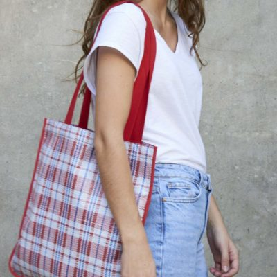 RED MARKET DAILY TOTE
