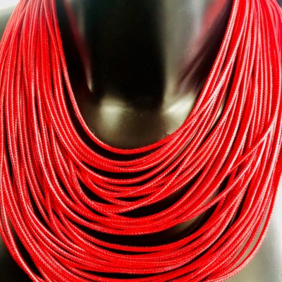 Collier LACES Rouge