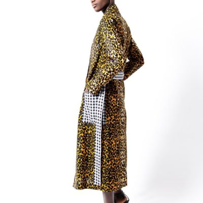 LEO TRENCH IN AFRICAN FABRIC